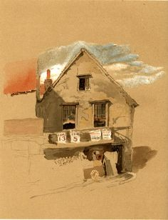 End of Market Street, Croydon by John Ruskin (Crayons as an art medium? Now THAT is inspiring!)