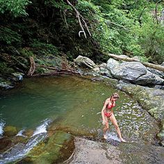 Cedar Run Falls: Southern Living's swimming hole of choice in Shenandoah National Park.