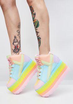 b5360b9f Y.R.U. (Pre)Skoolin' U Platform Qozmo Sneakers Полусапожки, Обувь 80 Х,
