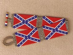 Confederate - Rebel Flag Bracelet