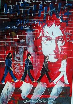 Beatles music ilustrated by Walter Vermeulen - Watching The Wheels -John Lennon