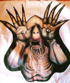 "34 Me gusta, 2 comentarios - Daniela  (@paranoia_696) en Instagram: ""  #pintura #artwork #painting #arte #acrilic #horrorart #arteterror #artehorror #horrorgram #instahorror #artgram #pinterest #argentinaart #ellaberintodelfauno #guillermodeltoro #dougjones #arthorror #pinturasobretela #pintadoamano #horrorfan #horroradict #monster """