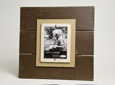 barn wood frame... I want 3 of these!