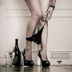 Boudoir Photo Session---I'd request the panty pull up look less staged