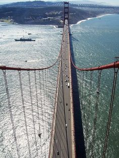 On top of the Marin side of the Golden Gate bride.