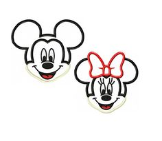 Mickey and Minnie Miss and Mister Mouse Applique Digital Download