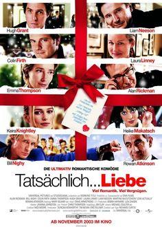 Love Actually (2003) ~ Movie Poster ~ #romcoms #britishmovies #chickflicks #loveactually #romanticcomedies #comedies