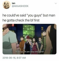 indeed, at first I was a little surprised to see this .... todoroki looks anxious about his midoriya