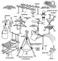 FICHAS TÉCNICAS PARA CAMPAMENTO: CONSTRUCCIONES (34 hojas)
