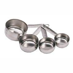 Kitchen Craft Measuring Cup Set, Stainless Steel 4 Piece