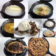 One-Pan Skillet Cookie-I'm saving this recipe because my husband loves his skillet A LOT!
