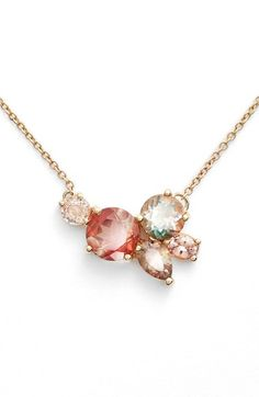 want all of the mociun - MOCIUN Oregon Sunstone & Peach Sapphire Cluster Necklace available at #Nordstrom