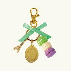 Laduree macarons keychain or bag charm from today's blog post on Laduree!