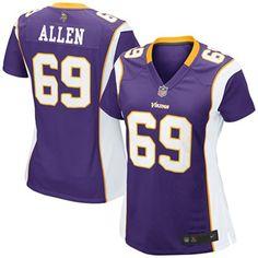 5ee8a3891 Nike Jared Allen Minnesota Vikings Women s Game Jersey - Purple Nike Nfl