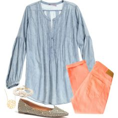 Coral and Chambray