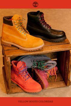 Além de cadarços coloridos, nossa coleção atual trouxe mais cores para as Yellow Boots Lovers. :D
