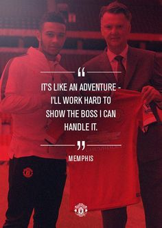 New arrival @Memphis is ready to put the graft in at #mufc...