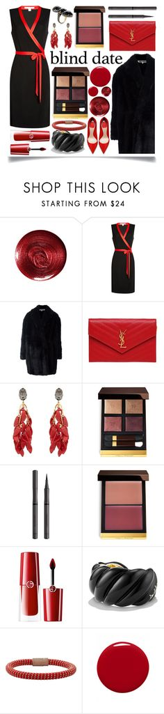 """Blind Date"" by ittie-kittie ❤ liked on Polyvore featuring Christian Dior, Diane Von Furstenberg, Alexander McQueen, Yves Saint Laurent, Marni, Tom Ford, Burberry, Giorgio Armani, David Yurman and Carolina Bucci"