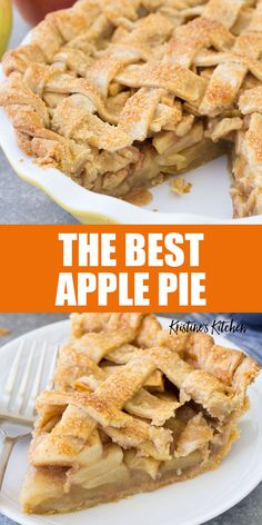 This homemade apple pie is easy to make from scratch! With the best sweet, juicy apple pie filling and a perfect flaky pie crust. The BEST apple pie recipe! #applepie #pie #baking Apple Pie Recipe Easy, Homemade Apple Pie Filling, Best Apple Pie, Easy Homemade Recipes, Easy Baking Recipes, Apple Pie Recipes, Pastry Recipes, Tart Recipes, Dessert Recipes