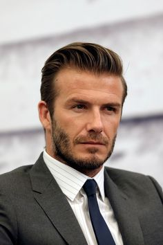 David Beckham. | The 22 Hottest Bearded Men In Britain ummm.. oh jeez... HI!!!