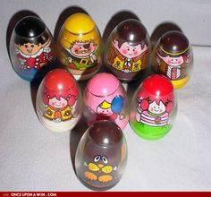Weebles! I loved these little guys when I was young. I still have a few of them, even some of the ones in this picture.