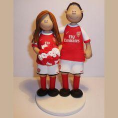 arsenal football club wedding cake toppers