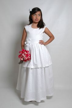 JESSY DRESS. First Communion dress handmade with by PIALEONCOUTURE, $210.00