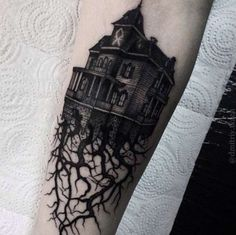Victorian House Tattoo by Dmitriy Tkach