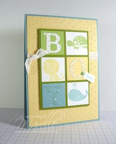 baby boy card - like the squares