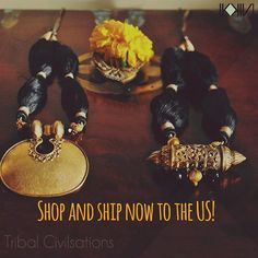 Shop and ship this beautiful tribal collection to the US now. #nassarius #jewellery #india #culture #antique #ikkivilife #ikkivi #internationalshipping #noborders