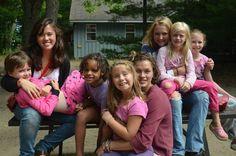 Girls hanging out at Camp Kitchi