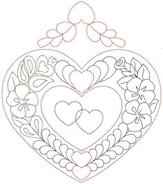 Designs To Draw Simple Patterns Easy Awesome Heart Quilting Patterns Q Is For Quilter Easy Designs To Draw Embroidery Hearts, Hand Embroidery Patterns, Quilt Patterns, Heart Patterns, Free Motion Quilting, Hand Quilting, Simple Designs To Draw, Easy Designs, Rosemaling Pattern