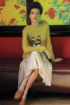 On Air Skirt - modeled--charles henry--anthropologie.com