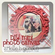 Arielle: DIY MINI PHOTO CANVAS /