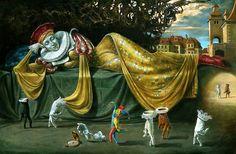 Solitaire of Pantomime / Michael Cheval / Sürrealist Ressam / Surrealist Oil Painter