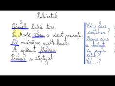 Subiectul - Lecție de limba română - YouTube Math Equations, Face, Youtube, Faces, Youtubers, Youtube Movies, Facial