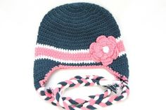 @candicheeks Adorable baby girl crochet hats with decorative flower design.