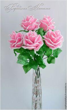 Купить Розы из бисера - разноцветный, розы, розы ручной работы, розы из бисера, цветы из бисера