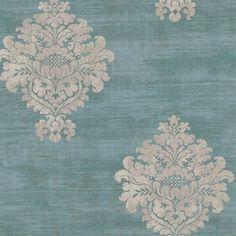 Blue Atherton Damask Spot Wallpaper, SBK25560