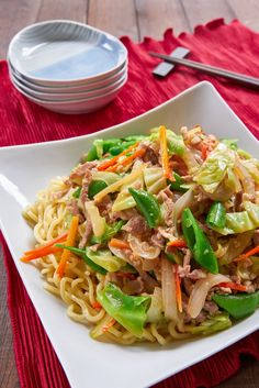 When made right, Chop Suey is a delightfully simple stir-fry of vegetables and a bit of marinated meat along with a light sauce that envelopes the bed of noodles or rice below. Get easy recipe for this Chinese-American classic.