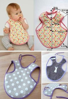 Baby Bibs Patterns, Baby Knitting Patterns, Baby Sewing Projects, Sewing For Kids, Sewing Baby Clothes, Baby Pillows, Baby Crafts, Handmade Baby, Baby Accessories