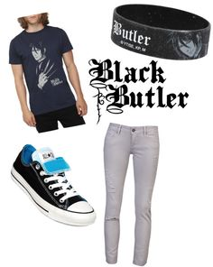 """Black Butler outfit"" by parkercrow ❤ liked on Polyvore"