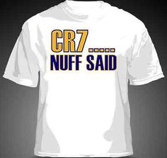 CR7...NUFF SAID Cristiano Ronaldo Shirt Real Madrid La Liga MENS & YOUTH SIZES