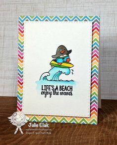 Your Next Stamp:  Waddles - Beach Fun stamp set #yournextstamp
