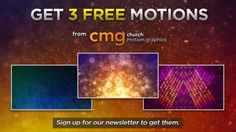 3 Free moving backgrounds from Church Motion Graphics.