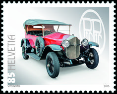 Swiss special stamp: Swiss automobiles (Pic –Pic) www.postshop.ch #Stamps…
