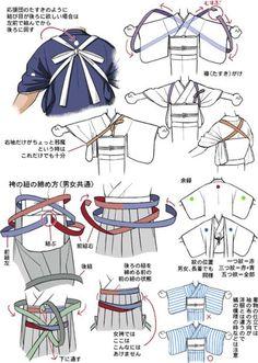 tanuki☼kimono — About Men and Women Hakama, by Kaoruko Maya. Japanese Costume, Japanese Kimono, Japanese Outfits, Japanese Fashion, Japanese Clothing, Samurai, Kleidung Design, Yukata Kimono, Poses References