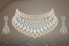 Catch out dazzling diamond necklaces, earrings or cuffs - with its fine arrangement of fancy and round brilliant diamonds from Jalandhar Jewellery House. Emerald Necklace, Diamond Necklaces, Diamond Jewellery, Gems Jewelry, Diamond Rings, Gem Drawing, Tanishq Jewellery, Jewelry Design Drawing, Gold Bangles Design