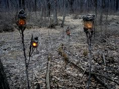 Got any witch lanterns kicking around? Maybe some of the branches have grown just right to convert a few into swamp lights.