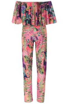 a4db8dc870a Floral Frill Jumpsuit celebrity inspired. – IKESHIA BOUTIQUE Cheap Clothes
